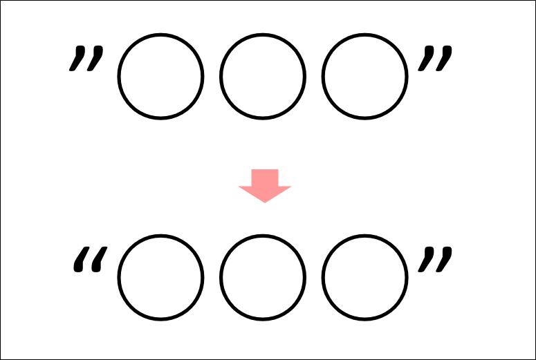 左右の区別がない引用符を、区別のある引用符に変更する