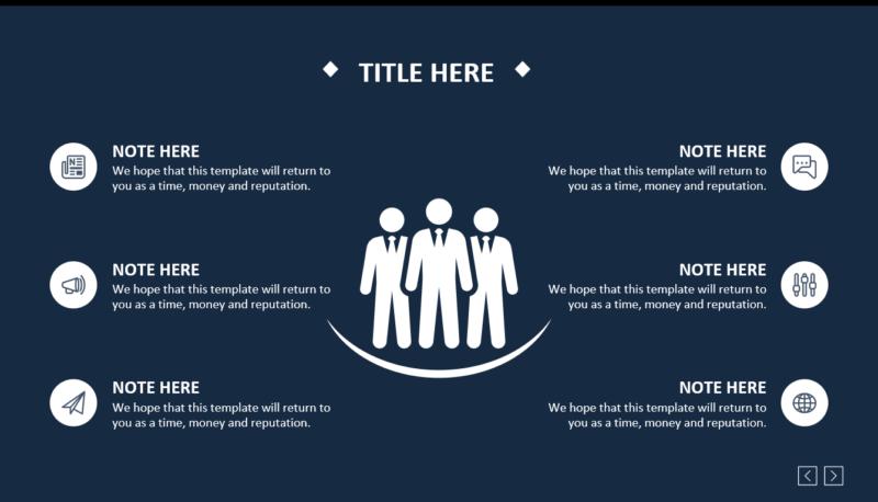 ダークテーマのクールなビジネス系パワポデザイン
