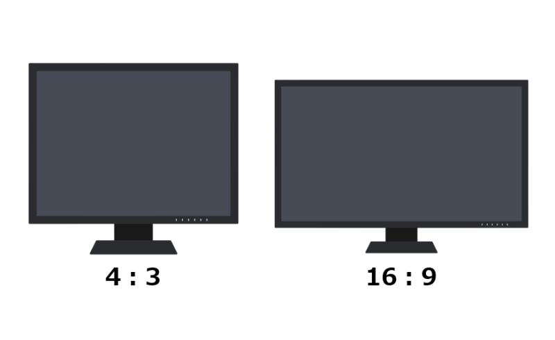 16:9と4:3